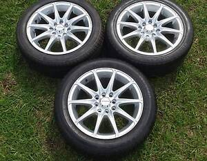 """15"""" ALLOY TRAILER WHEELS AND TYRES 4X114.3 MM & 4X100 MM RIMS X 3 Kallangur Pine Rivers Area Preview"""