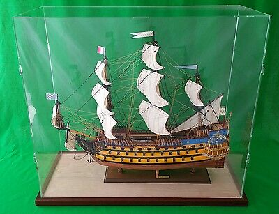 54 x 15 x 44 Inch Table top Clear Acrylic Display Case for Tall Model Ships