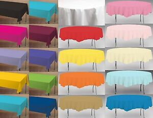 Paper Table Cloth Cloths Tablecovers Round 82 Quot Oblong