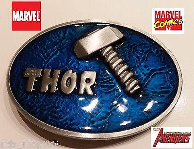 Marvel Comics THOR Hammer Mjolnir BELT BUCKLE Collectible Avengers Cosplay