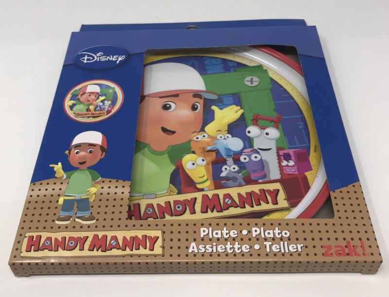 Disney Handy Manny Plate Zak Designs Toddler Child Dish Tools NEW Open Box.