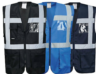 Portwest Uf476 Silver Reflective Tape Lightweight Cooling Fabric Executive Vest