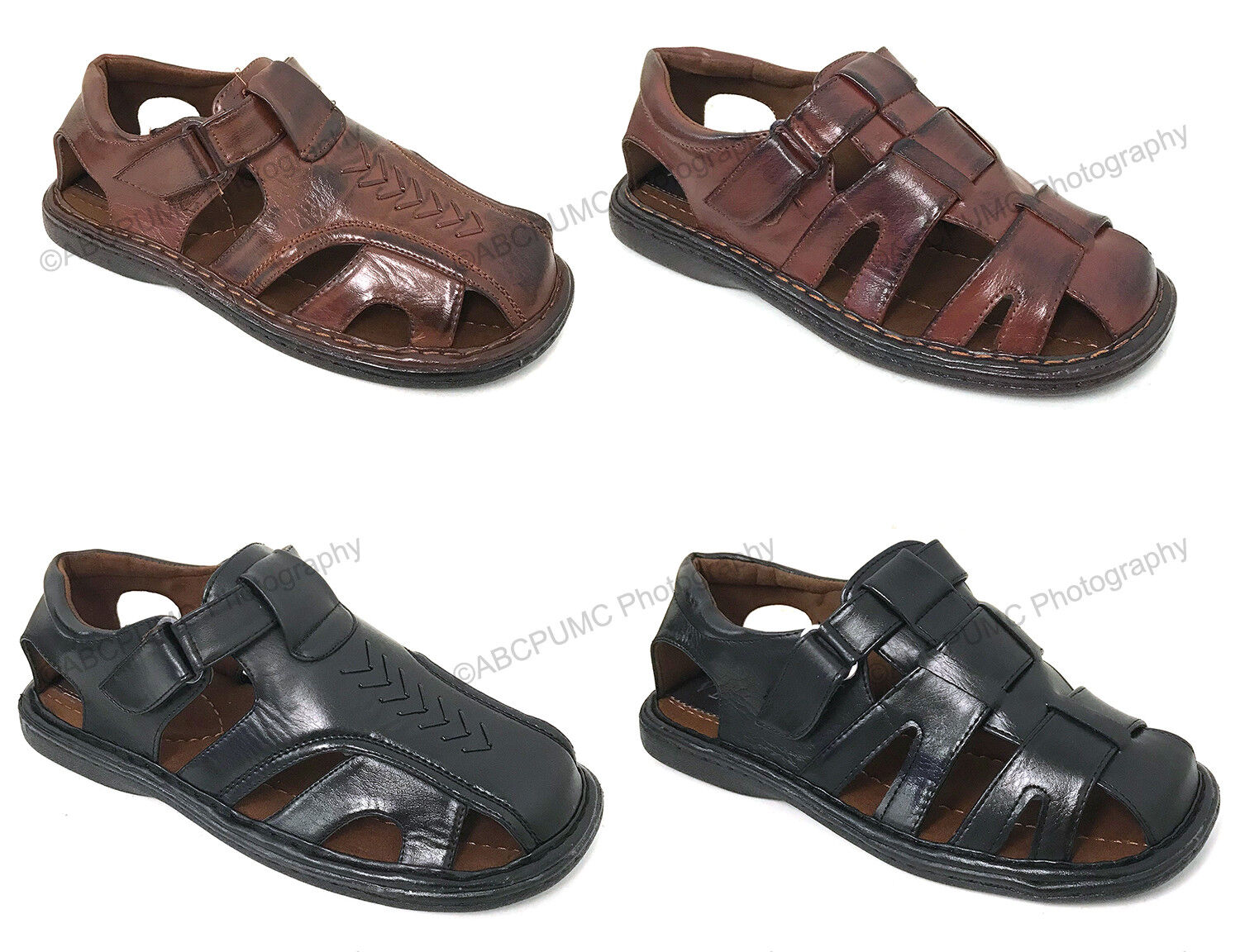 Brand New Men's Fisherman Sandals Closed Toe Adjustable Buck