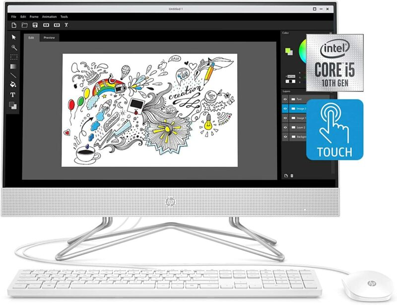 """Hp 24""""  Touchscreen  I5-1035g1 12gb 