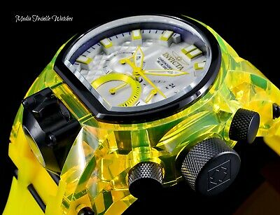 Invicta Men's 52mm Bolt Magnum ANATOMIC Quartz Chronograph Yellow Strap Watch