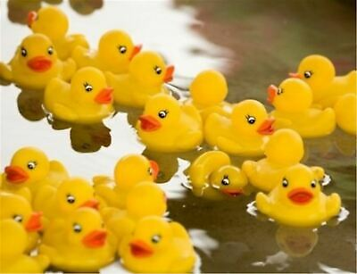 Digabi Set of 60 1.4 Mini Yellow Ducks Rubber Bath Toy Pure Natural Cute PVC Rubber Ducky for Baby Kinder Toys Baby Products Bath Toys 60pcs