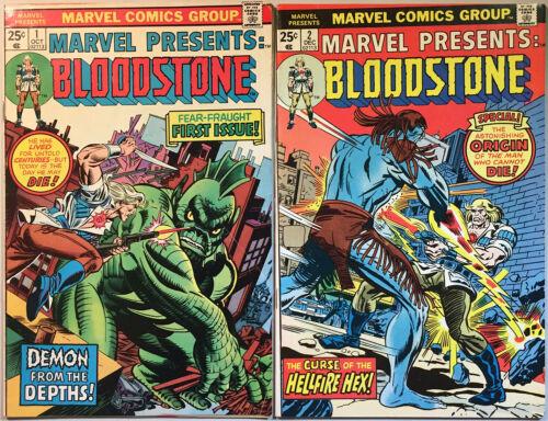 Marvel Presents Bloodstone #1 & #2. Origin & 1st App Bloodstone. (Marvel 1975)