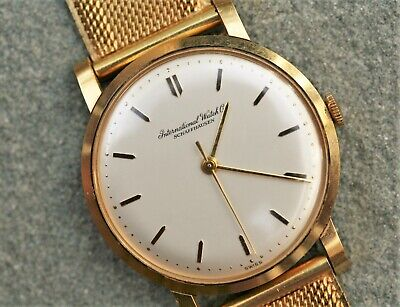 IWC International Watch Company 18K Yellow Gold Manual Wind 33 mm