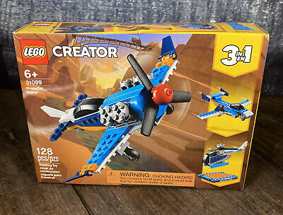 Lego Creator Propeller Plane (31099) ~ BRAND NEW Factory Sealed 128 pcs Age 6+