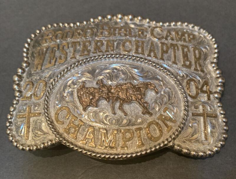 Vintage Dale Chavez Rodeo Bible Camp Western Chapter Belt Buckle # 284