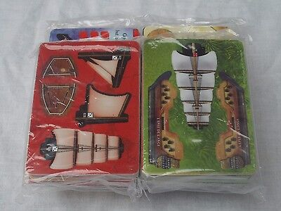 WIZKIDS PIRATES LOT OF 4 SPECIAL EDITION CARD ONLY SETS NEW & SEALED