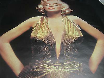 Marilyn Monroe Gold Sequin Dress Film Star Vintage Wall Poster Rolled Pbx1(51)