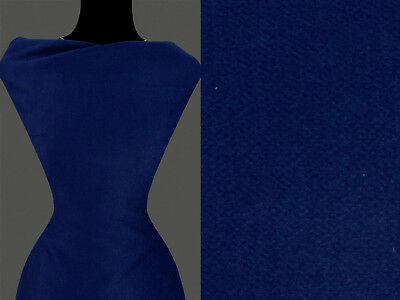 Diagonale Mantel ((12,60 €/m) 50cm STOFF Kostümstoff Mantelstoff diagonal dunkelblau)