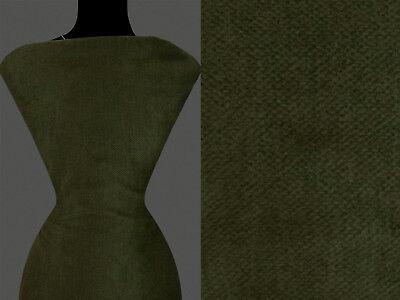 Diagonale Mantel ((12,60 €/m) 50cm STOFF Kostümstoff Mantelstoff diagonal olivgrün)