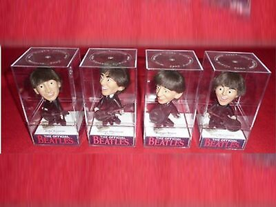 ALL 4 THE BEATLES DOLL DISPLAY CASES nem REMCO NEW!