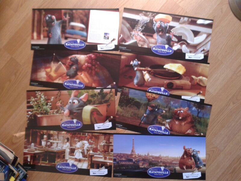 RATATOUILLE - 8 German jumbo DeLuxe lobby cards - 2007 DISNEY