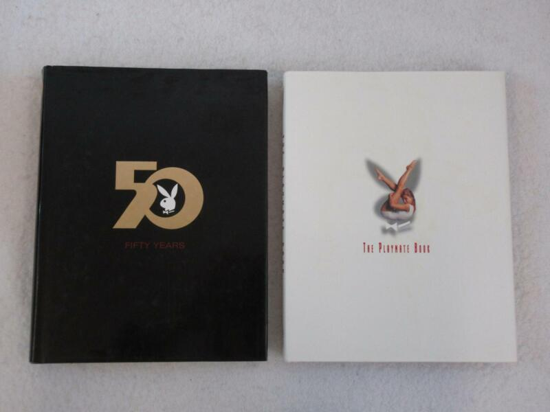 Lot of 2 PLAYBOY Books FIFTY YEARS and THE PLAYMATE BOOK Hardcovers w/DJ