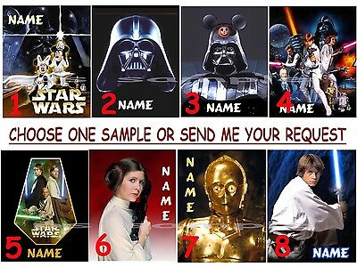 PERSONALIZED Disney STAR WARS - Fridge or Cruise Magnet (great Fish Ext) (Personalized Refrigerator Magnets)