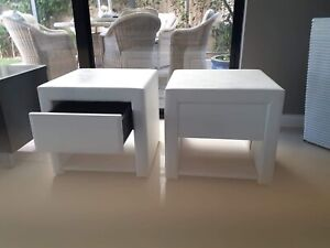 WHITE MATCHING BEDSIDE UNITS FOR SALE