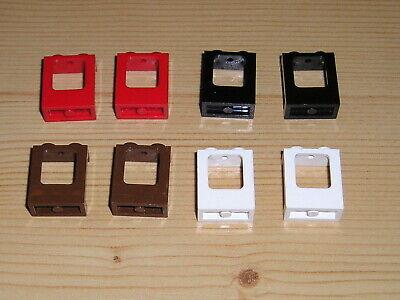 Lego 4 x Panel 4864b 1x2x2 klar 10022 10183 10184 4997 10026 10200 5563 5930