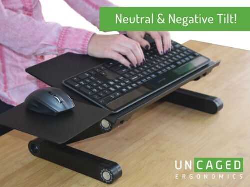 WorkEZ Keyboard Tray adjustable height angle tilt sit stand up computer riser