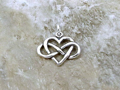 Sterling Silver Infinity Heart (Everlasting Love) Charm -1419