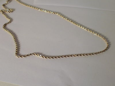 - 14k Yellow Gold Plated Rope Necklace chain 2 MM 16-36 IN lifetime warranty