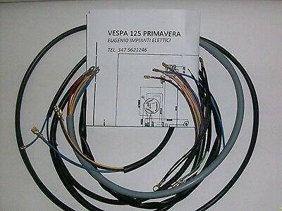 Sistema Eléctrico Eléctrica Alambrado Vespa 125 Primavera Con Esquema Eléctrico