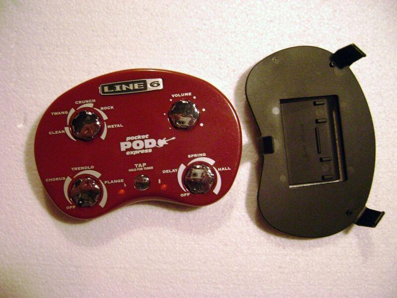 LINE 6 Pocket POD Express, guitar multi-effects, tuner w/belt clip