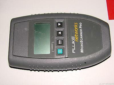 Fluke Networks Microscanner Pro 10100 Cable Tester Wo Wire Map Adp Accessories