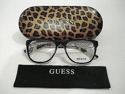 Guess GU2559 GU 2559 001 Shiny Black Frame Rx-Able Eyeglasses