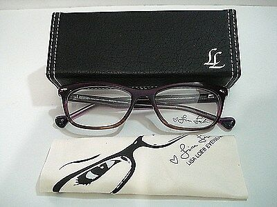 Lisa Loeb Eyewear Loved You 144 Berry Eyeglasses Rx-Able Frame - Lisa Frame
