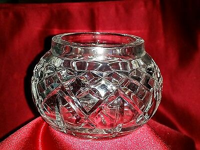 "WATERFORD CRYSTAL Ireland Posey Bud VASE Sparkling Diamond Cut 2.5"" High"
