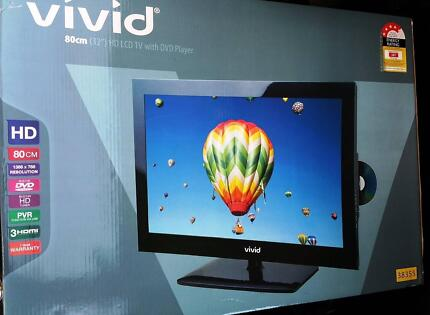 "New Vivid TV 32""  HD, LCD, PVR, Built in DVD Player HD Tuner. South Yarra Stonnington Area Preview"