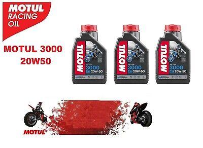 Olio Motore Moto Motul 3000 4T 20W50 - 3 litri lt