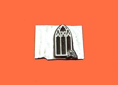 HOT FOIL PRINTING PLATE LETTERPRESS BLOCK Wedding Window 13 x 22mm #149