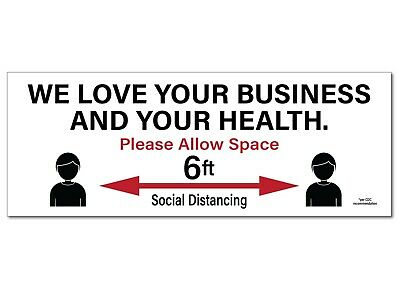 Social Distancing Signs Corrugated Plastic 24pk 9 X 24 Free Shipping