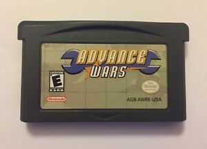 Authentic Advance Wars Gameboy Advance Intelligent Systems GBA