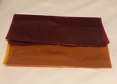 YEMA OR PASTRY  PLASTIC CELLOPHANE WRAPPER 2 PIECES Orange and Pink