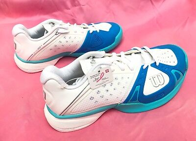 befc29a36da1cd Wilson RUSH PRO HC W Women s Tennis Shoe White Pool Oceana List  129 SIZE 6  NEW!