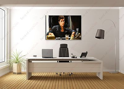 Scarface #3 Al Pacino Movie Actor Painting Canvas Print Art Home Decor Wall