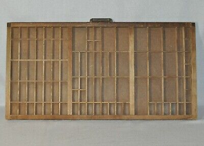 """Antique Wooden Printers Drawer Typset Varied Compartments Approx 32""""x16.5"""" 1219!"""
