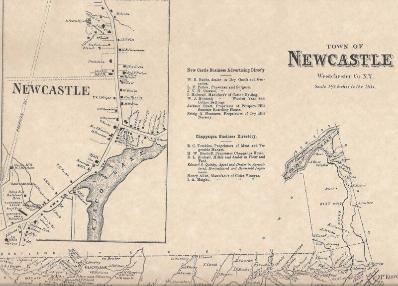 New Castle Chappaqua Mount Kisco Millwood Glendale NY 1867 Maps Homeowners Shown