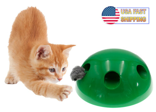 Automatic Pop Up Peekaboo Interactive Motion Cat Play Toy Motorized Moving Mouse