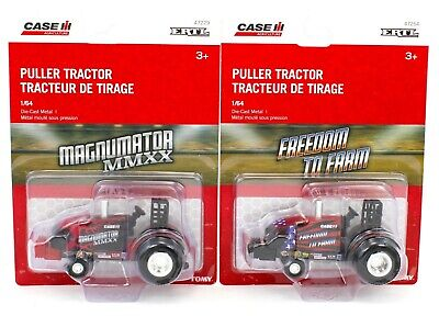 2020 ERTL 1:64 *PULLER* CASE IH *SET OF 2* Pro Stock Pulling Tractor *NIP*