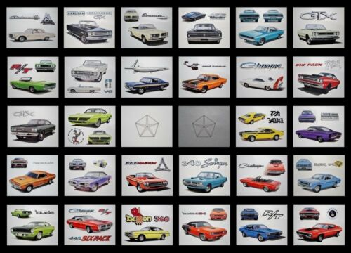 OLD DEALER ART PRINTS - PLYMOUTH SUPERBIRD ROAD RUNNER GTX CUDA BARRACUDA DUSTER