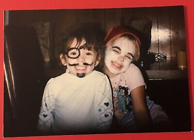 Vintage Color Photo Little Young Boy Girl Kids Halloween 🎃 Costume Makeup S1051 - Little Girl Halloween Makeup