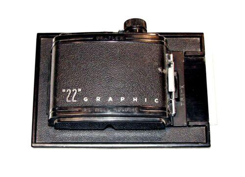"Graflex ""22"" Graphic 120 Roll Film Holder Back for 4 x 5 ~ Estate Find"