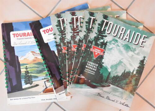 Lot 6 Conoco Touraide Trip Planner Maps Guides 1951 1952 Continental Oil Co