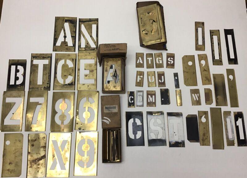 Vintage Miscellaneous Brass Stencil Sets